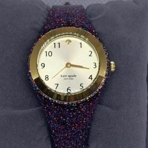 Kate Spade Women's Silicone Gold Dial Watch E201